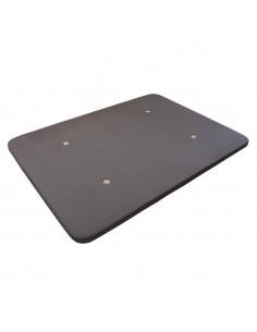 Base tapizada color gris ceniza con tejido 3D transpirable